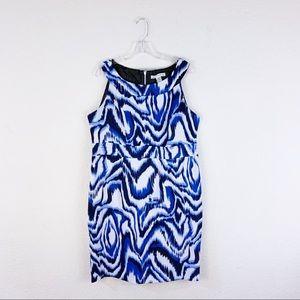 AA studio wavy striped patterned sleeveless dress
